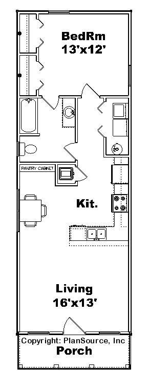 Cottage Plan C0929 11 Plansource Inc