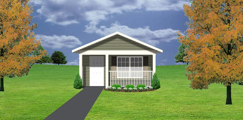 Cottage plan c1103 11 plansource inc for Mother in law cottage cost