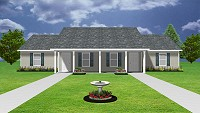 Duplex plan with 2 bedrooms & 1 bath - J0124-13d