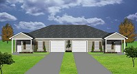 duplex plan with garage - J0222-13d-2