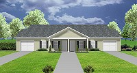 duplex house plan with garage - J0222-13d