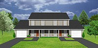 J0406-11d, 2-story duplex with garages