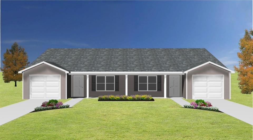 Duplex Plan With Garage J0408 14d Plansource Inc