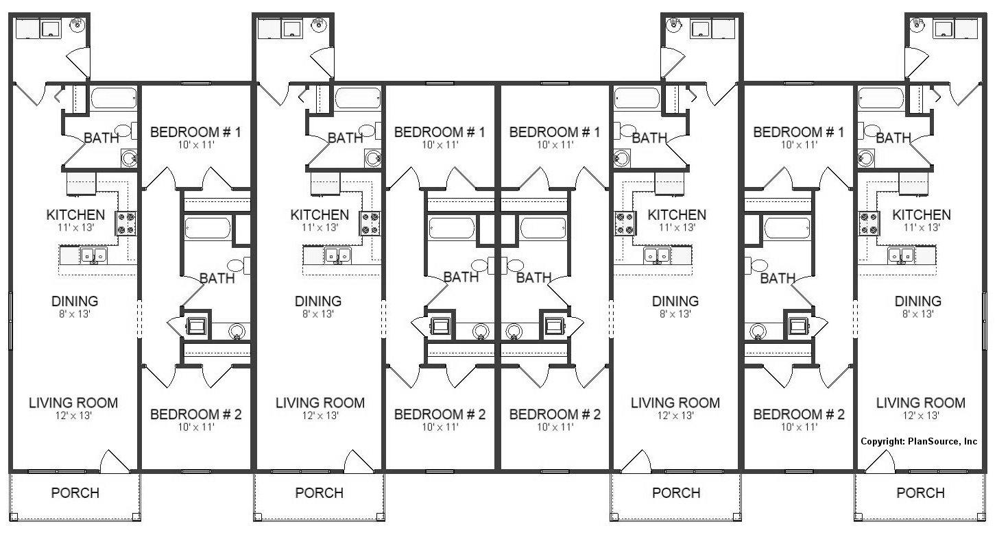 Fourplex Plan J0512 17 4