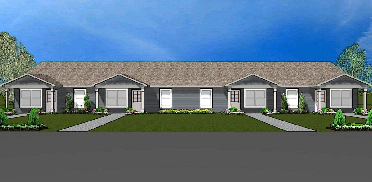 Fourplex plan j0512 17 4 for Cost to build fourplex