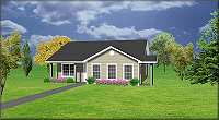 Small house plan J0802