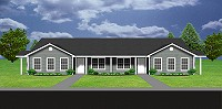 J0802d, duplex house plan