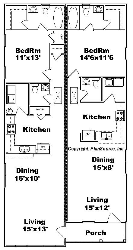 Floor Plans For Narrow Lots