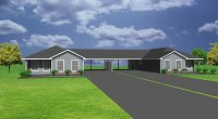 J0907d, duplex with double carports