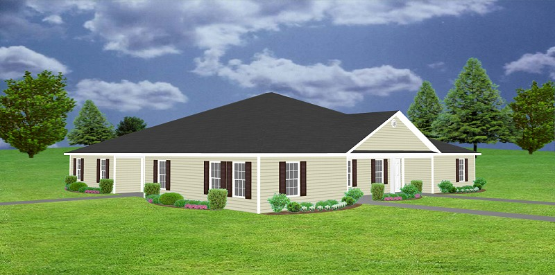 Front Elevation For Building : Plex apartment plan j