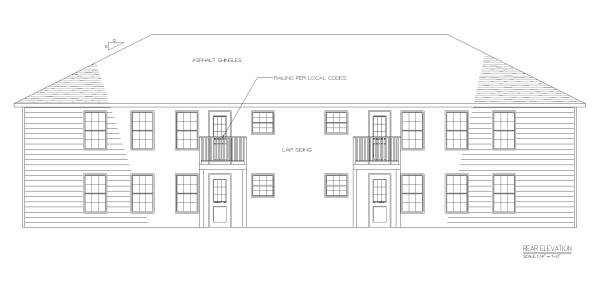 Fourplex apartment j1031 4 plansource inc for Apartment fourplex plans