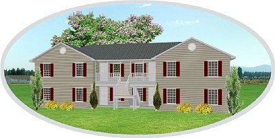 Fourplex apartment j1031 4 plansource inc for Apartment plans 4 plex