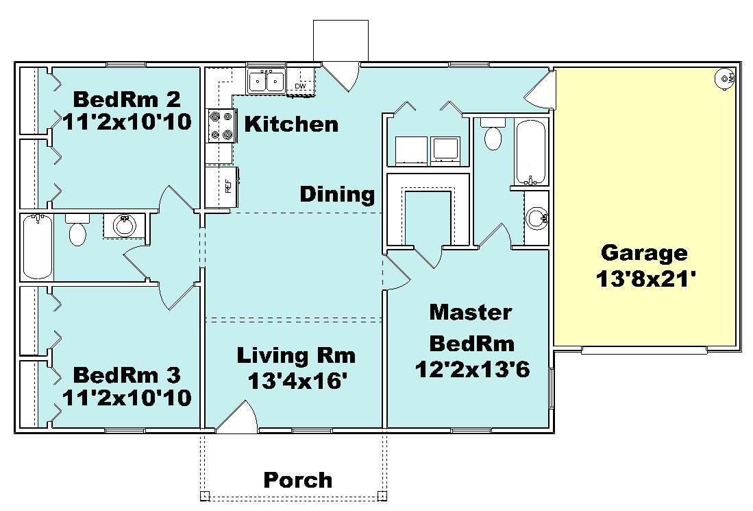 small house plan J1067
