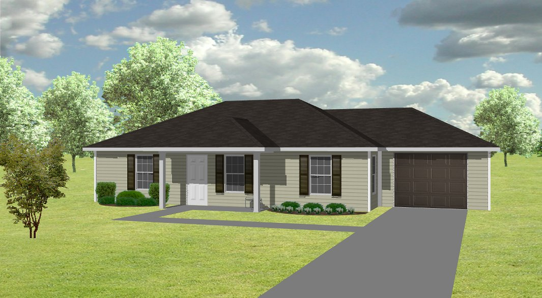 House Plan J1067 B J1067 B Exterior View