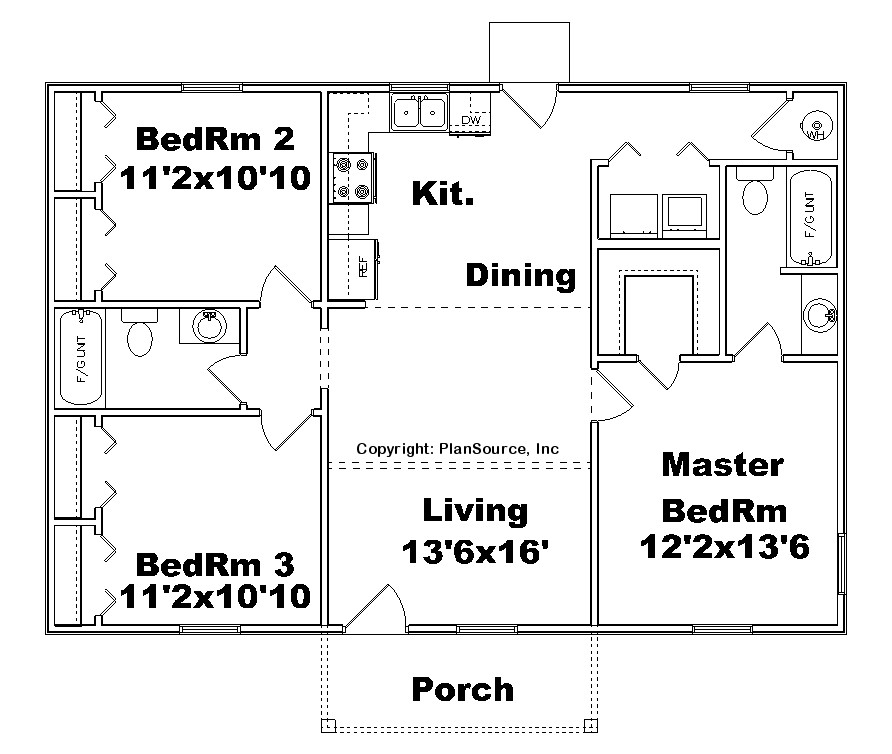 Small House Floor Plans Without Garage Floor