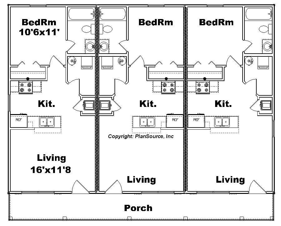 apartment plan j1103 11 6 plansource inc