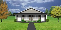 Narrow lot duplex house plan, J1103-11d