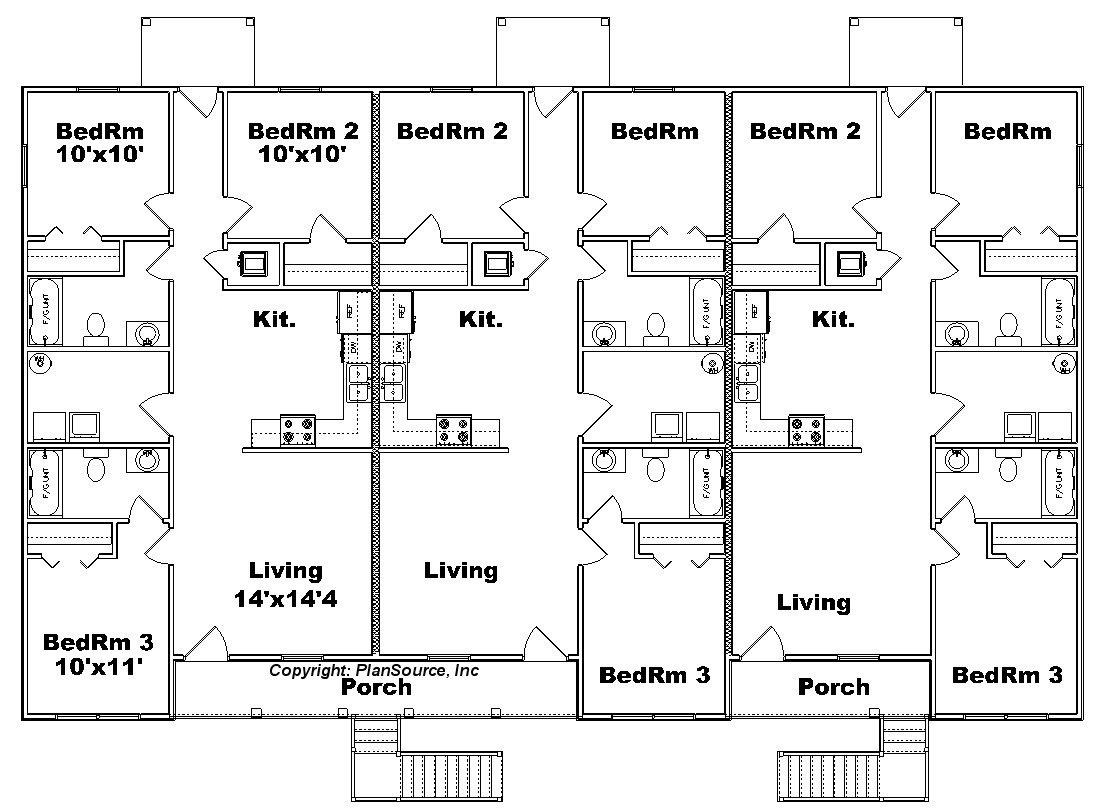 6 unit apartment building plans submited images pic2fly