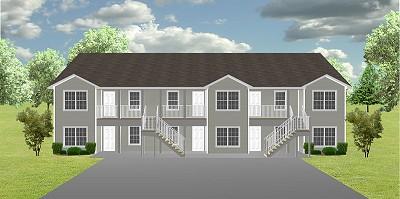 Apartment plan j1138 6 plansource inc for 4 unit apartment building plans pdf