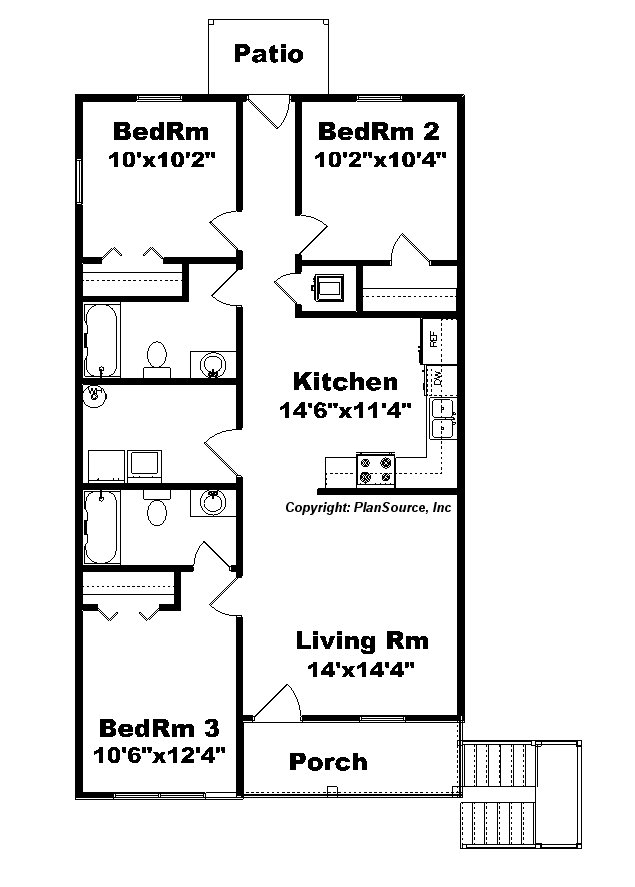 duplex J1138d-2 Floor plan