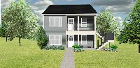 Duplex plan J113d-2, 1 over 1