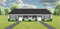 Duplex house plans 3 bedrooms PlanSource Inc