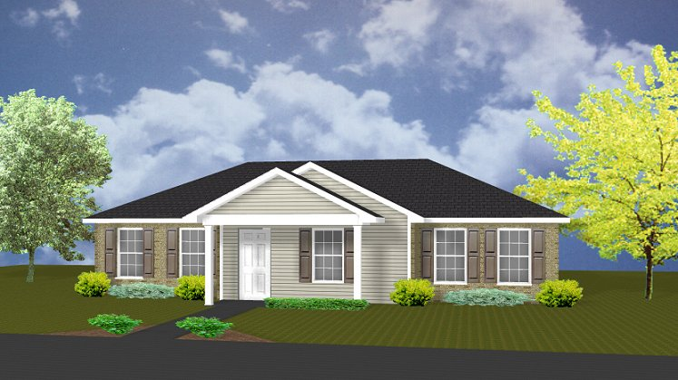 delightful front view house plans #10: J1301 House Plans By PlanSource Inc. Excellent Front View ...