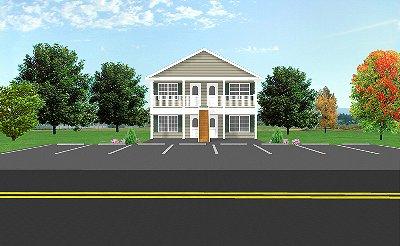 Fourplex plan j1828 4 plansource inc for Building a fourplex
