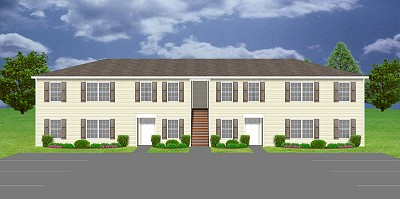 Apartment plan j1964 4 plansource inc for Cost to build a fourplex