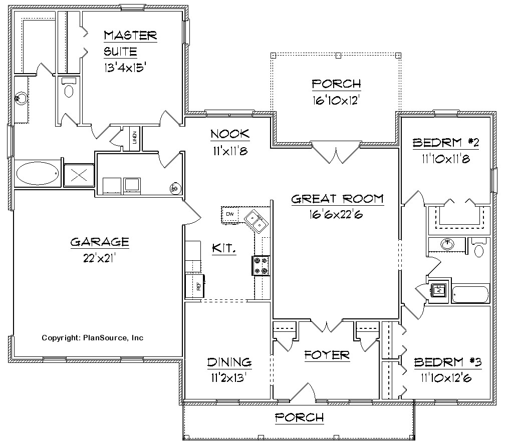 Bathroom floor plans free over 5000 house plans for Design home floor plans online free