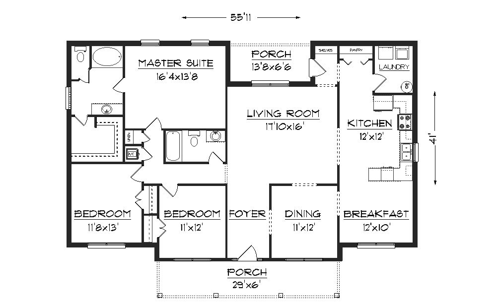 Free Floor Plans For Houses Country Ranch House Floor Plan Plans Part 73
