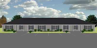 4 plex apartment plan j778 4b plansource inc Fourplex apartment plans