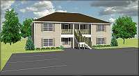 Economical 4plex plan, J778-4