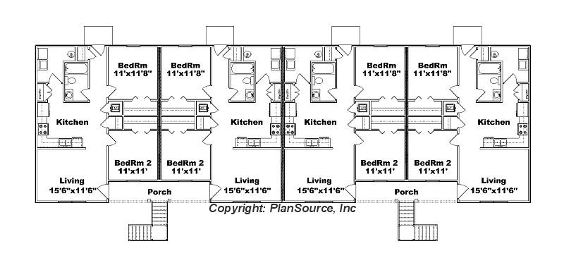 8 unit apartment plan j778 8 for 24 unit apartment building plans