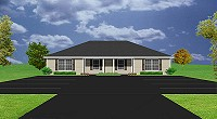 popular small duplex plan - J0929-11d