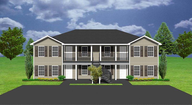 Apartment plan j891 4 for Cost to build fourplex
