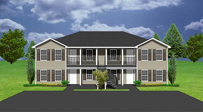 Apartment plan j891 4 for Cost to build 4 plex