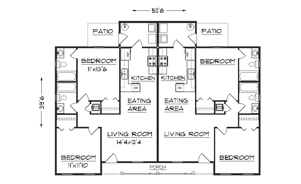 Duplex House Plans from The House Designers