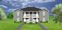Fourplex plans quadplex 4plex plans plansource inc Fourplex apartment plans