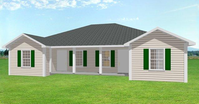 Duplex house plan J d   PlanSource  IncDuplex house plan  J d Front