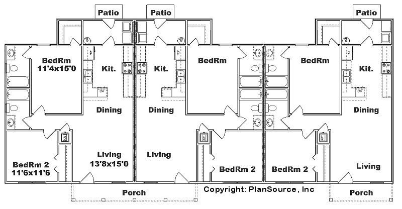Triplex floor plans finest shanghai triplex marchitects for Triplex plans one story