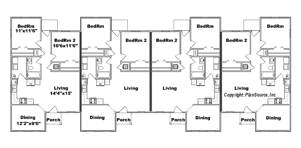 Three plex floor plans carpet review 4 plex plans narrow lot