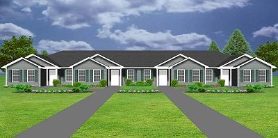 4 plex j949 4 plansource inc for Fourplex plans with garage
