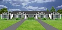 Fourplex plans quadplex 4plex plans plansource inc for Quadplex plans