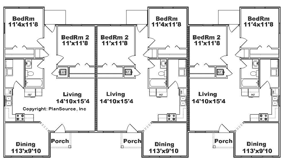 triplex house plans designs besides home duplex triplex floor plans in