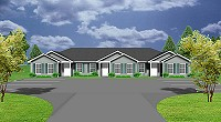 J949-T- Triplex house plan