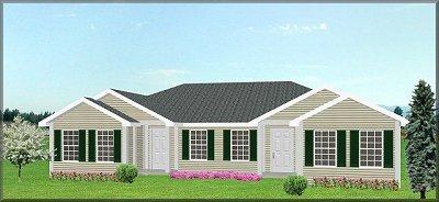 Duplex house plan J949d-PlanSource