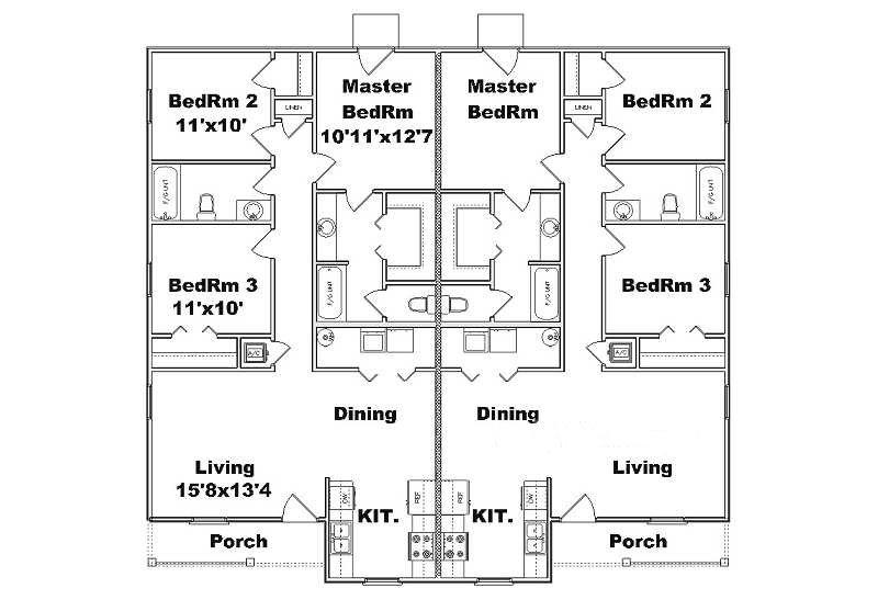 Two Bedroom Quadplex Joy Studio Design Gallery Best Design