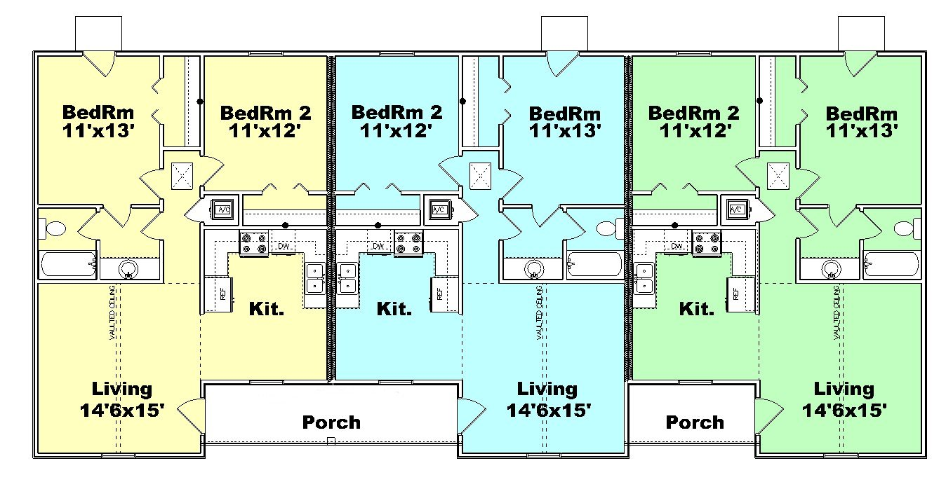 Triplex Floor Plans Of Triplex House Plans Joy Studio Design Gallery Best Design
