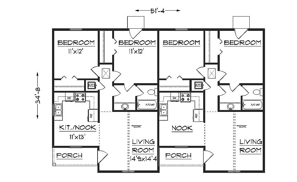 Duplex plans joy studio design gallery best design for Best duplex plans